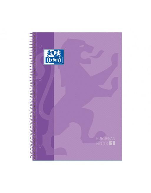 OXFORD CUADERNO EUROBOOK1 A4 80H 5X5 90GR TAPA EXTRADURA LILA - 100430201