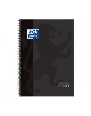 OXFORD CUADERNO EUROBOOK1 A4 80H 5X5 90GR TAPA EXTRADURA NEGRO - 100430269