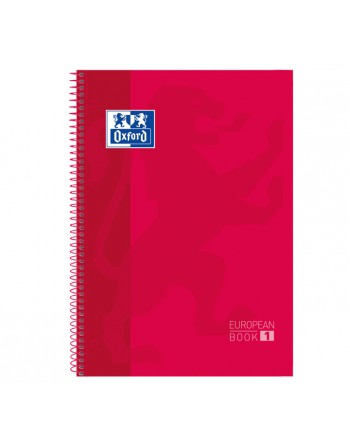 OXFORD CUADERNO EUROBOOK1 A4 80H 5X5 90GR TAPA EXTRADURA ROJO - 100430198