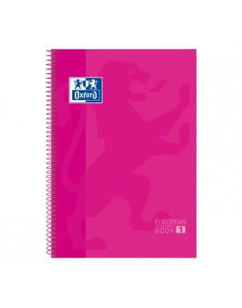 OXFORD CUADERNO EUROBOOK1 A4 80H 5X5 90GR TAPA EXTRADURA ROSA - 100430270
