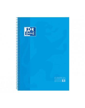 OXFORD CUADERNO EUROBOOK1 A4 80H 5X5 90GR TAPA EXTRADURA TURQUESA - 400028276