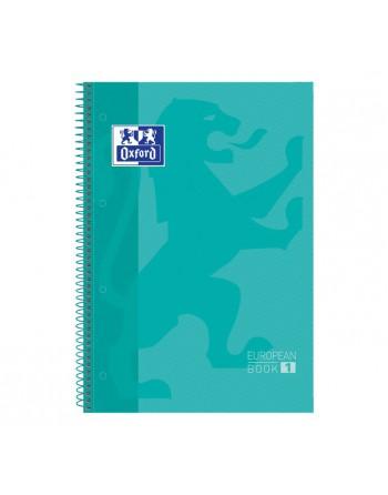 OXFORD CUADERNO EUROBOOK1 A4 80H 5X5 90GR TAPA EXTRADURA VERDE MENTA - 400040983