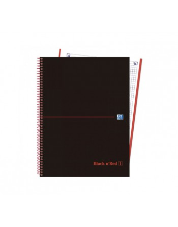 OXFORD CUADERNO EUROBOOK1 BLACK AND RED A4+ 80H 5X5 90GR TAPA EXTRADURA - 400088244