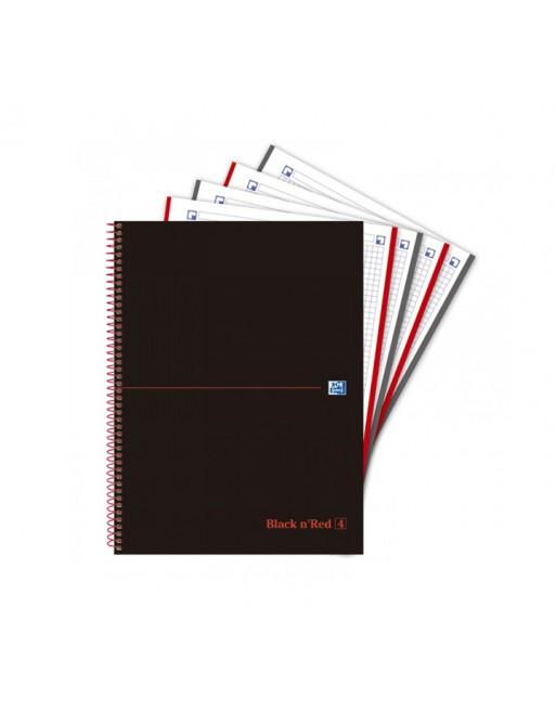 OXFORD CUADERNO EUROBOOK4 BLACK AND RED A4 120H 5X590GR TAPA EXTRADURA - 400088487
