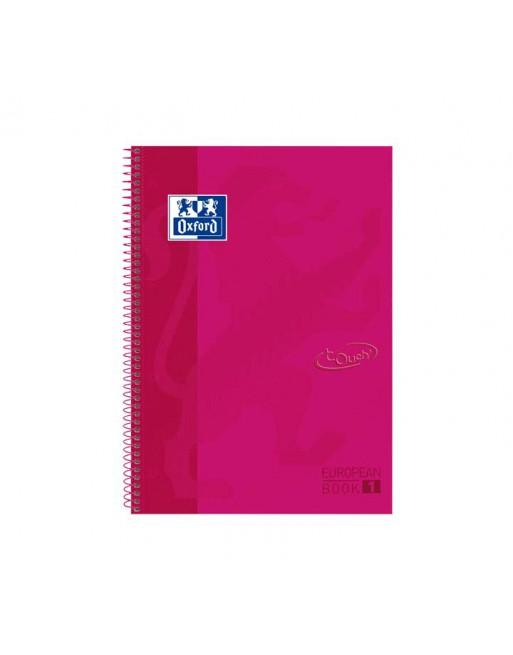 OXFORD CUADERNO EUROBOOK 1 A4+ 80H 5X5 90GR TAPA EXTRADURA FRAMBUESA TOUCH - 400075552