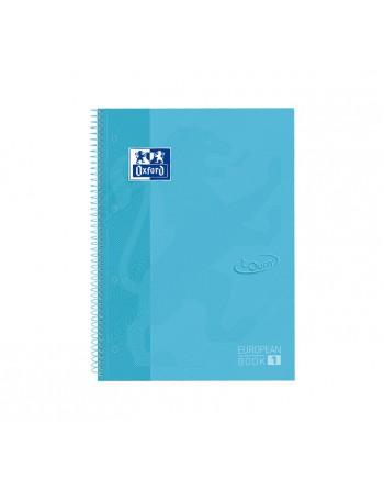 OXFORD CUADERNO EUROBOOK1 A4 80H 5X5 90GR TAPA EXTRADURA TOUCH AZUL - 400107010