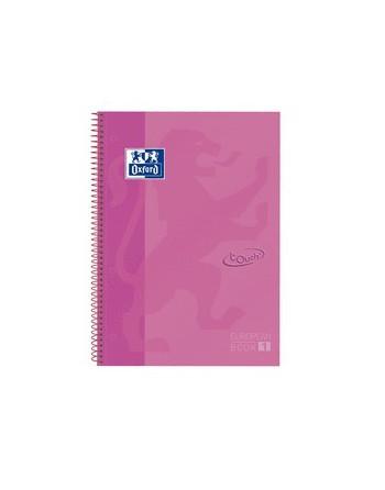 OXFORD CUADERNO EUROBOOK1 A4 80H 5X5 90GR TAPA EXTRADURA TOUCH ROSA - 400106999
