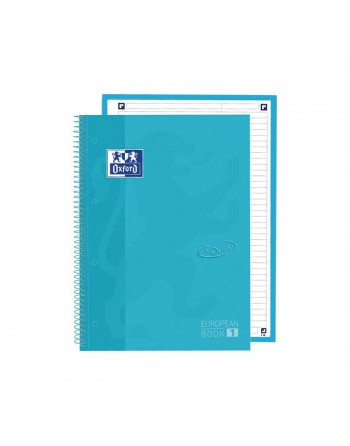 OXFORD PACK 5 CUADERNOS EUROPEANBOOK 1 TOUCH A4 HORIZONTAL 80h TURQUESA PASTEL 400138327