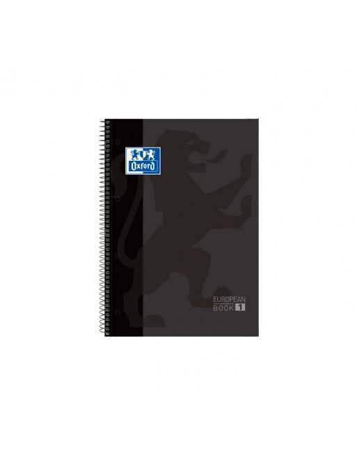 OXFORD CUADERNO EUROBOOK1 A4+ 80H 90GR HORIZONTAL TAPA EXTRADURA NEGRO - 400046817