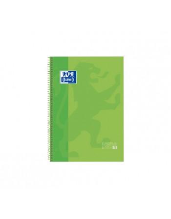 OXFORD CUADERNO EUROBOOK1 A4+ 80H 90GR HORIZONTAL TAPA EXTRADURA VERDE FL - 400118238