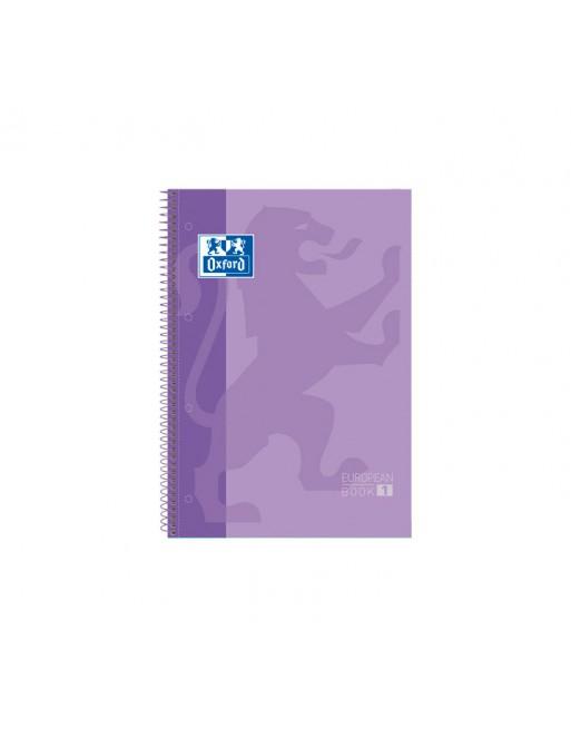 OXFORD CUADERNO EUROBOOK1 A4+ 80H 90GR HORIZONTAL TAPA EXTRADURA LILA - 100430267