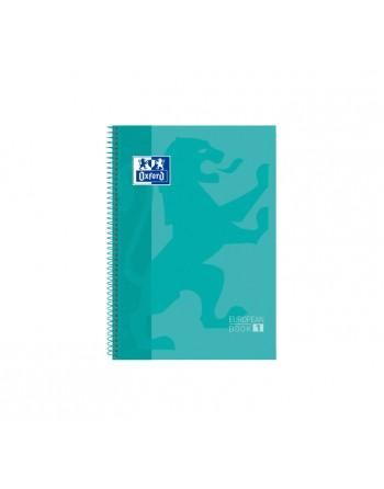 OXFORD CUADERNO EUROBOOK1 A4+ 80H 90GR HORIZONTAL TAPA EXTRADURA VERDE MENTA - 400078125