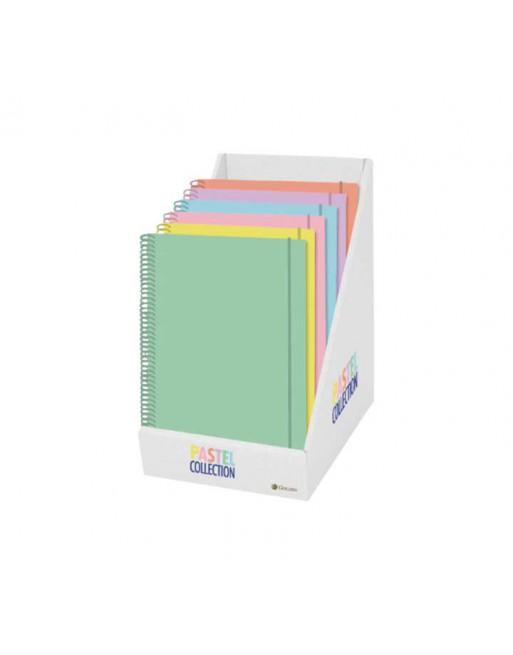MULTIMARCA PACK 12 CUADERNOS EUROBOOK 6 A5 5X5 DE 120 HOJAS 90 GR PASTEL TAPA SOFT FORRADA 327709