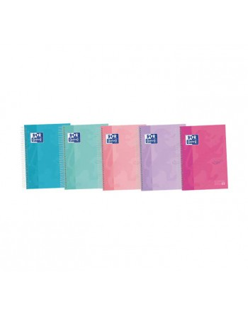 OXFORD PACK 5 CUADERNOS EUROPEANBOOK 4 TOUCH A5 5x5 120h PASTEL 400133561