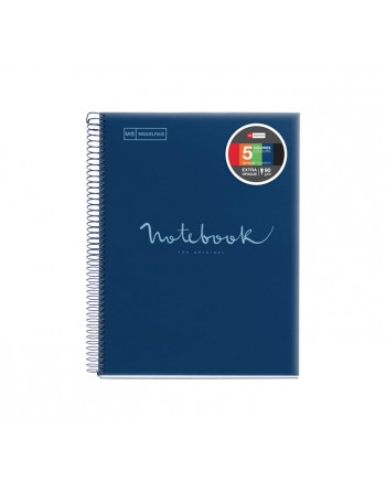 M.RIUS NOTEBOOK 5 POLIPROPILENO 5X5 A4 120H EMOTIONS MARINO - 46069