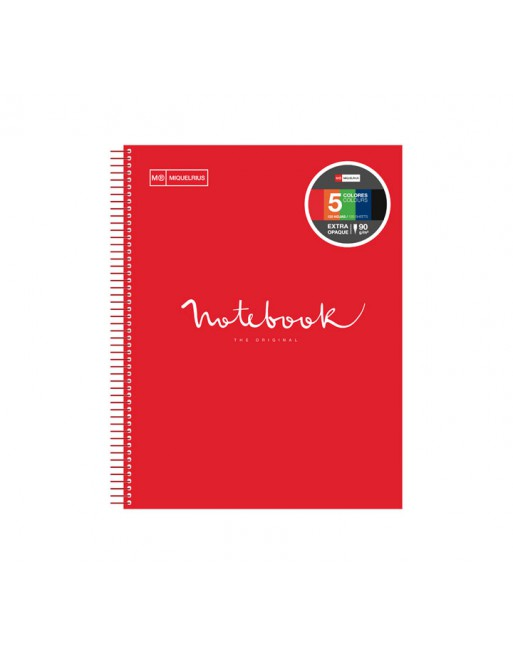 M.RIUS NOTEBOOK 5 POLIPROPILENO 5X5 A4 120H EMOTIONS ROJO - 46072