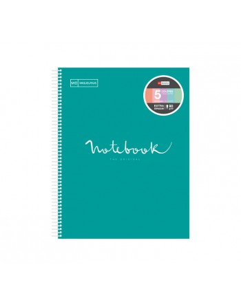 M.RIUS NOTEBOOK 5 POLIPROPILENO 5X5 A4 120H EMOTIONS TURQUESA - 46073