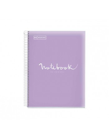 M.RIUS NOTEBOOK 5 PP 5X5 A4 120H EMOTIONS LAVANDA - 46079