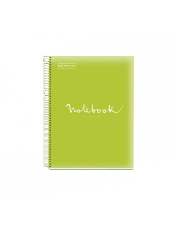 M.RIUS NOTEBOOK 5 PP 5X5 A4 120H EMOTIONS LIMA - 46080