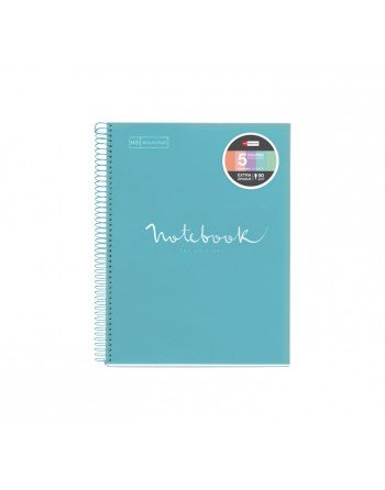 M.RIUS NOTEBOOK 5 POLPROPILENO HORIZONTAL A4 120H EMOTIONS CIELO - 48567