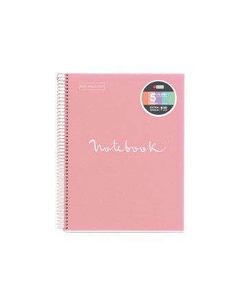 M.RIUS NOTEBOOK 5 POLPROPILENO HORIZONTAL A4 120H EMOTIONS ROSA - 48571