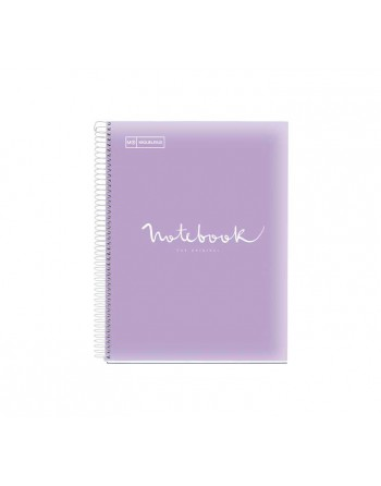 M.RIUS NOTEBOOK 5 POLIPROPILENO HORIZONTAL A4 120H EMOTIONS LAVANDA - 49939