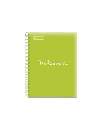 M.RIUS NOTEBOOK 5 POLIPROPILENO HORIZONTAL A4 120H EMOTIONS LIMA - 49940