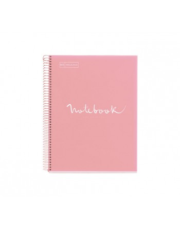 M.RIUS NOTEBOOK 1 POLPROPILENO 5X5 A4 80H EMOTIONS ROSA - 46062