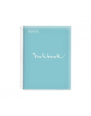 M.RIUS NOTEBOOK 8 POLIPROPILENO 5X5 A4 200H EMOTIONS AZUL CIELO - 46083
