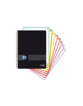 M.RIUS NOTEBOOK 8 POLIPROPILENO 5X5 A4 200H EMOTIONS AZUL FORM - 46081