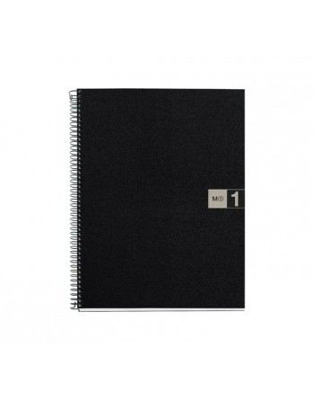 M.RIUS CUADERNO NOTEBOOK 1 A5 80H GRIS - 2653