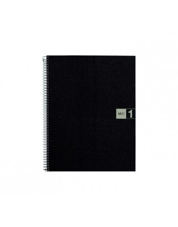 M.RIUS CUADERNO NOTEBOOK 1 A4 80H GRIS - 2473