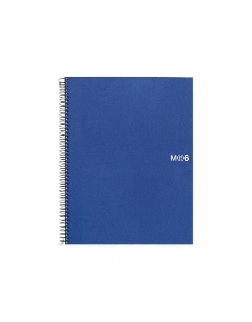 M.RIUS CUADERNO NOTEBOOK 6 A4 150H BASIC AZ - 2826