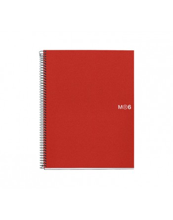 M.RIUS CUADERNO NOTEBOOK 6 A4 150H BASIC ROJ - 2825