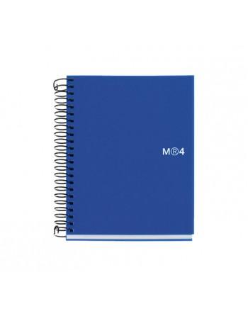 M.RIUS CUADERNO NOTEBOOK 4 A6 140H AZUL BASIC - 2549