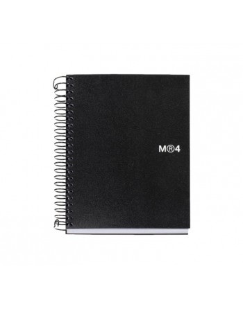 M.RIUS CUADERNO NOTEBOOK 4 A6 140H BASIC NEG - 2547