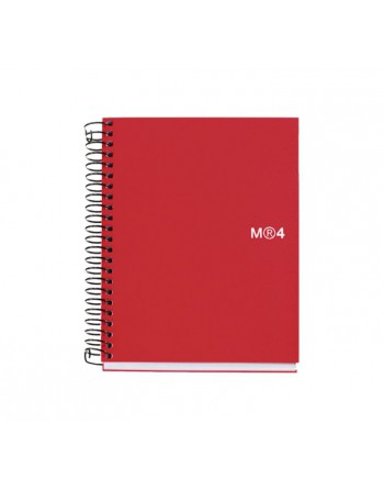 M.RIUS CUADERNO NOTEBOOK 4 A6 140H ROJ BASIC - 2548