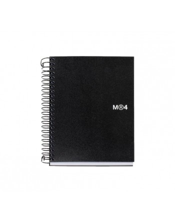 M.RIUS CUADERNO NOTEBOOK 4 A7 100H NEGRO - 2553