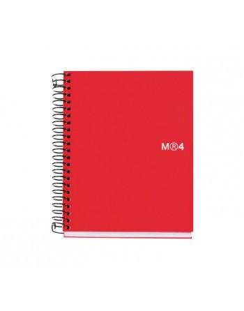 M.RIUS CUADERNO NOTEBOOK 4 A7 100H ROJO - 2554