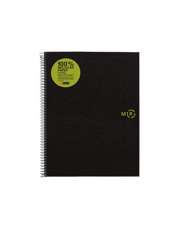 M.RIUS CUADERNO ESPIRAL NOTEBOOK 4 A5 120H RECICL. - 6039