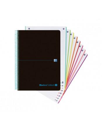 OXFORD CUADERNO MICROPERFORADO EBK8 B Y C A4+ 160H 90G 5X5 8 BANDAS - 400088489