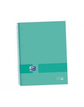 OXFORD CUADERNO EUROBOOK4 BLACK AND COLORS A4+ 120H 90GR 5X5 4 BANDAS TAPA PLASTICO CON SEPARADORES- 400107610