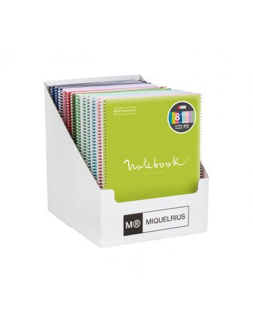 MIQUEL RIUS EXPOSITOR 21 NOTEBOOK6 A5 150 HOJAS DE 70GR THE ORIGINAL TAPA POLIPROPILENO 2949