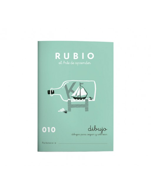 RUBIO PACK 10 CUADERNOS DIBUJO/ESCRITURA 010 - C010