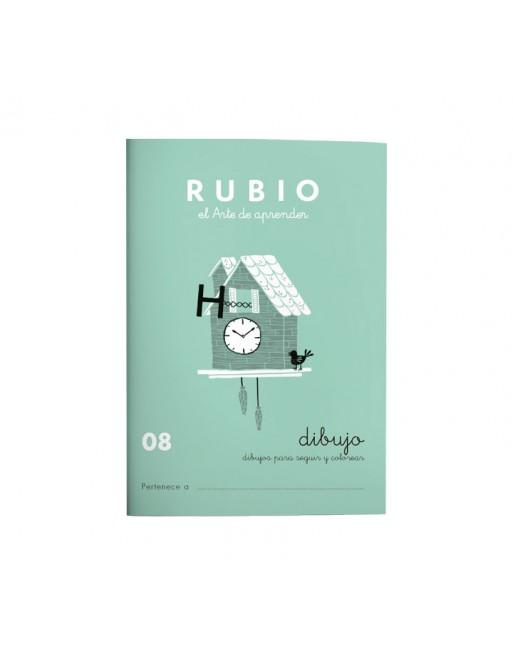 RUBIO PACK 10 CUADERNOS DIBUJO/ESCRITURA 8 - C08