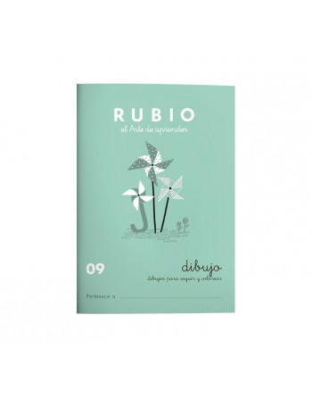 RUBIO PACK 10 CUADERNOS DIBUJO/ESCRITURA 9 - C09