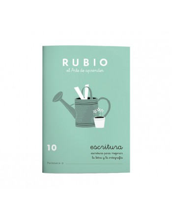RUBIO PACK 10 CUADERNOS ESCRITURA 10 - C10
