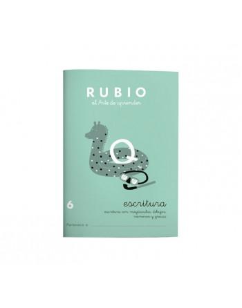 RUBIO PACK 10 CUADERNOS ESCRITURA 6 - C6