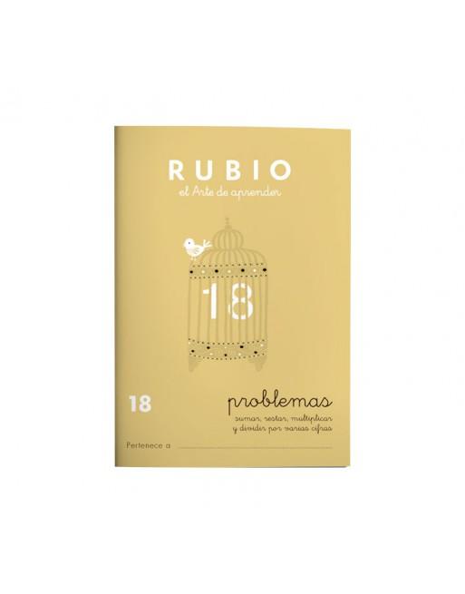 RUBIO PACK 10 CUADERNOS PROBLEMAS 18 - P18