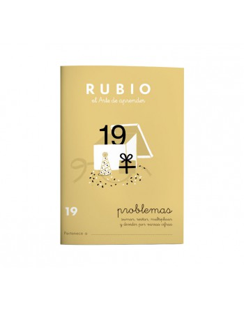 RUBIO PACK 10 CUADERNOS PROBLEMAS 19 - P19